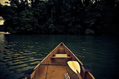 canoe. water. that's the life.