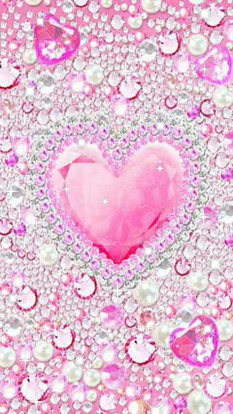 Glitter pink heart wallpaper images for Baby pink glitter wallpaper