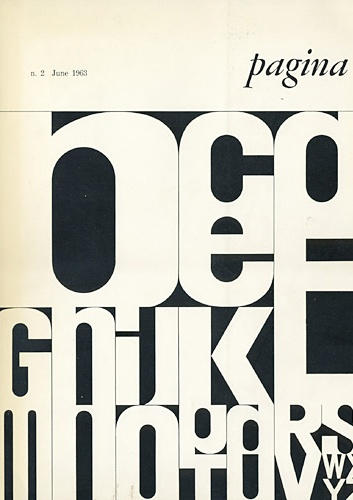 cover of Pagina Magazine N.2 by Bob Noorda (1963)