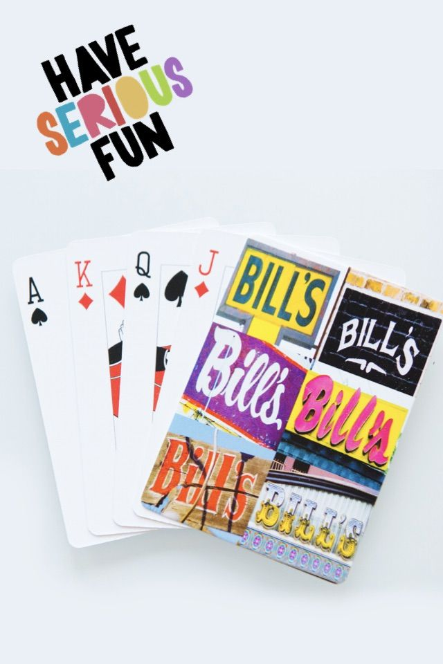 Personalized playing cards featuring the name BILL (and other names!) in photos of actual signs! Makes a great gift for your favorite guy, teen or Dad this Father's Day -- and is a must-have for any man cave :-)