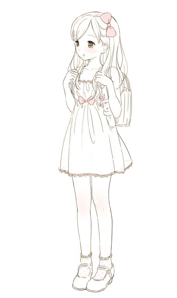 Garota Mangá Supeeerr KAWAII! *3*   Drawing   Kawaii anime ...