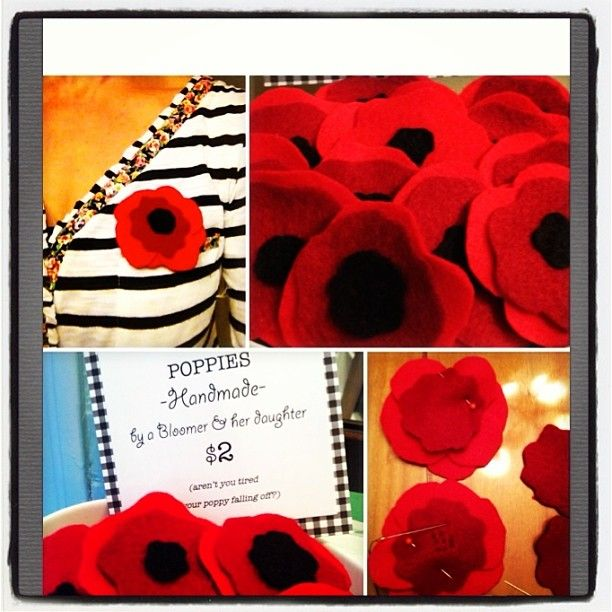 DIY Felt Poppies for Remembrance Day that don't pop off your lapel