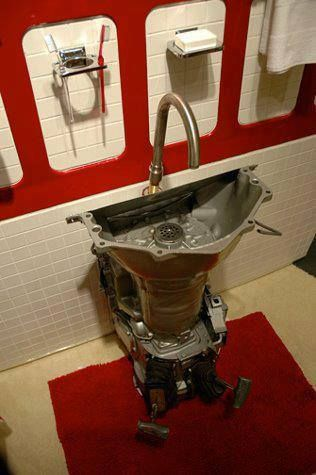 Excellent Recycling Art... Transmission!!! Lol