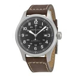 Khaki Officers Automatic Black Dial Men's Watch