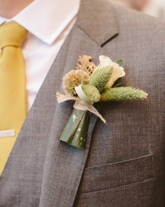 187 best wedding boutonnieres and corsages images on pinterest for the not so floral kind of groom a bark scabiosa junglespirit Images
