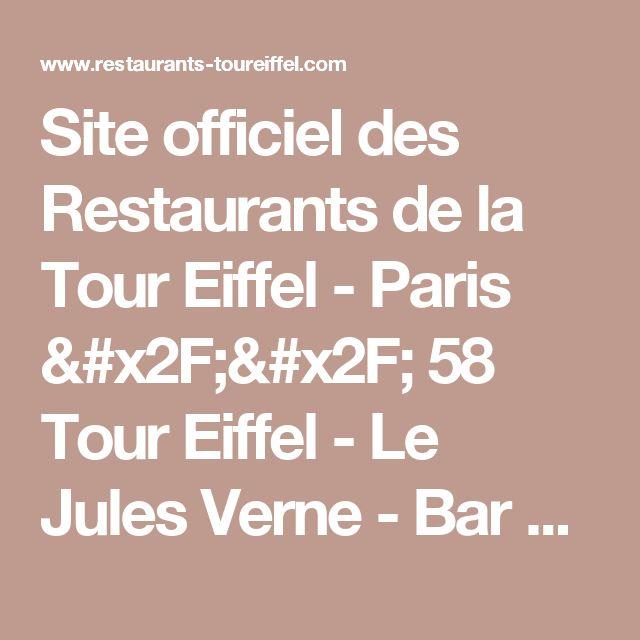 Site officiel des Restaurants de la Tour Eiffel  - Paris // 58 Tour Eiffel - Le Jules Verne - Bar à Champagne //
