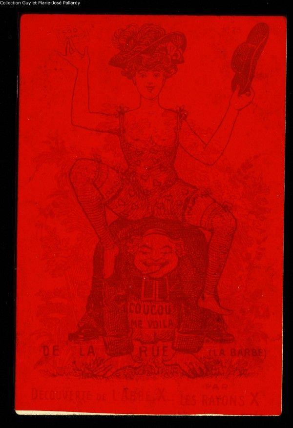 Carte à mystère, découverte de l'abbé X par les rayons X. Collection Pallardy. Suite.