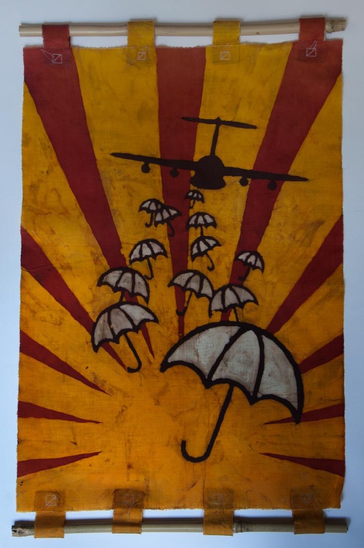 """Batik - size A2; Artist: Dawid Buchwald """"Manufacture Buchwald"""""""