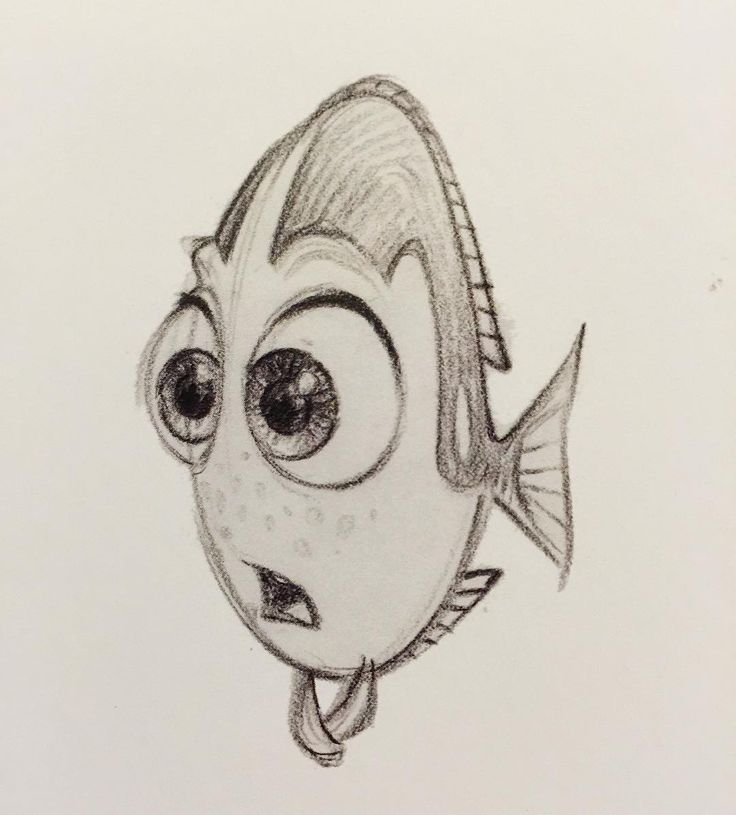 Finding dory sketch. I haven't seen the movie yet. One of my friends saw it and he liked it