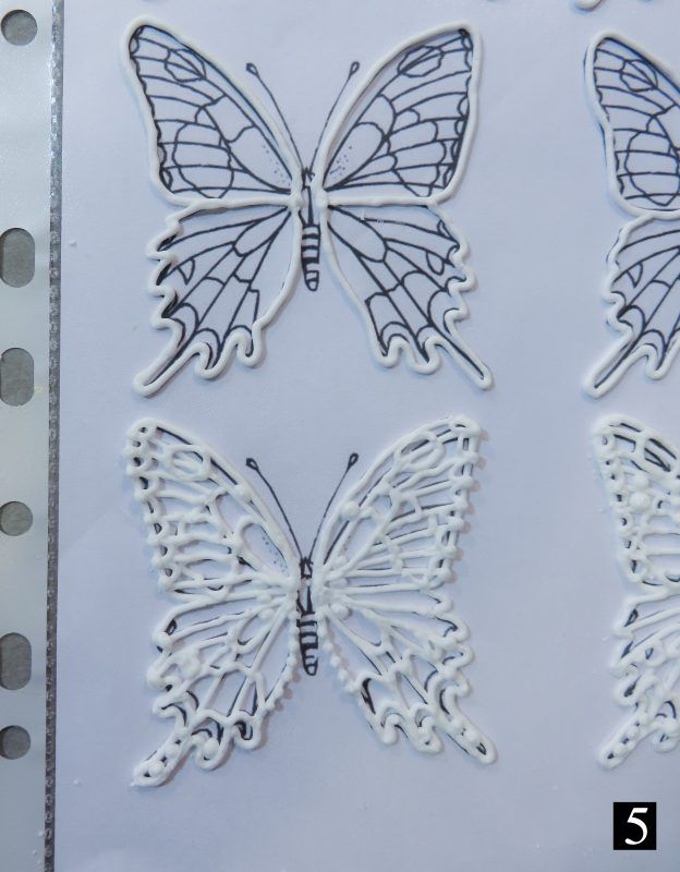Royal icing butterflies.