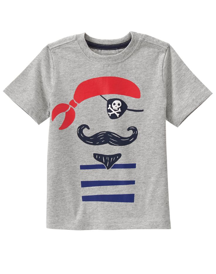 Toddler Boys Heather Grey Pirate Tee by Gymboree