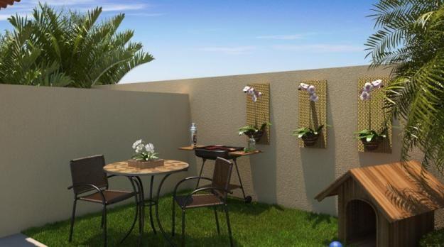 Decora o para quintal pequeno com piscina jacuzzi spa for Patios pequenos