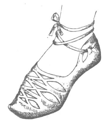 reconstruction of a shoe found in Opole, Poland / c. 11th century