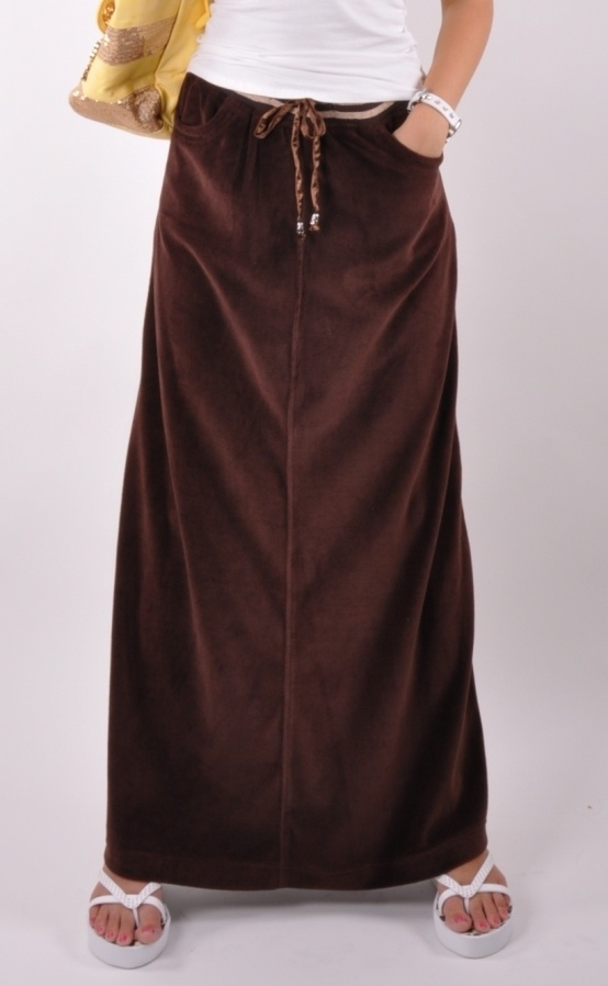 Brown Velvet Skirt 7