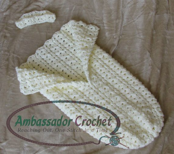 This cocoon & crown is made with all clusters and twisted post stitches.  Pattern by Ambassador Crochet - $3.95