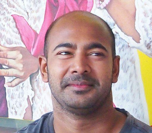 The painter Myuran Sukumaran. JP/Komang Erviani