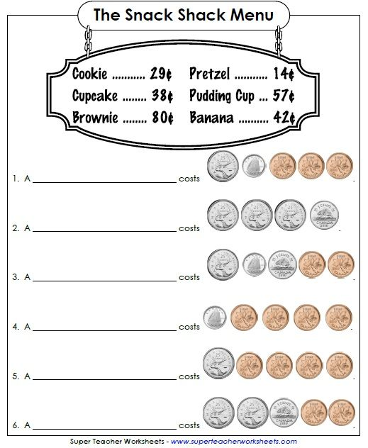 25+ best ideas about Money worksheets on Pinterest   Math for 1st ...