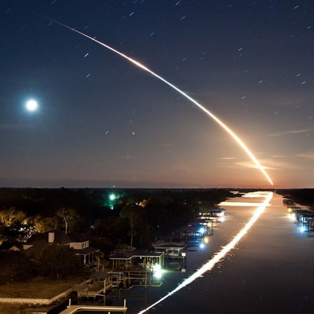Long Exposure of Space Shuttle Endeavour