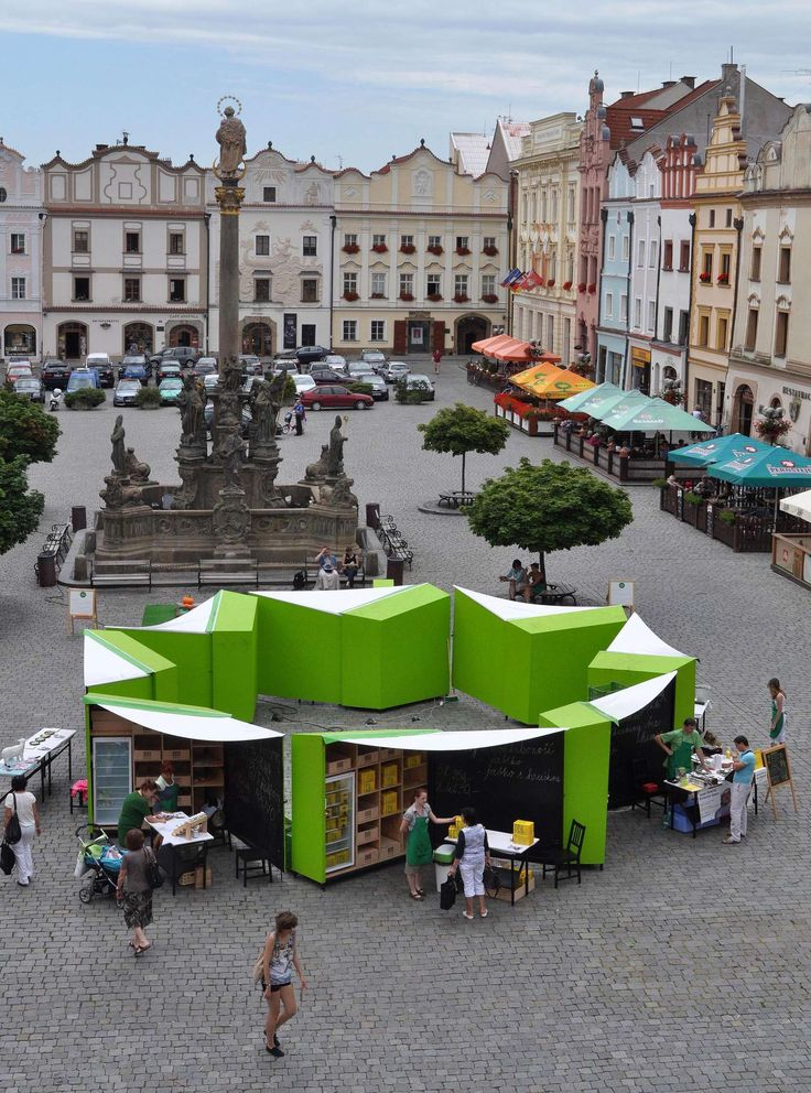 Locally grown and organic food is becoming more and more popular in the Czech Republic. When we were asked to design a market stall for a new concept of Gree...
