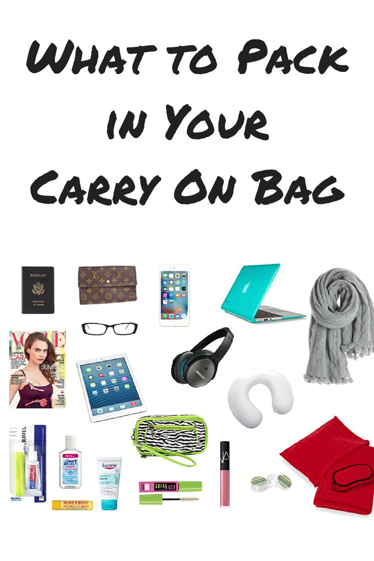 Not sure what to pack in your carry-on bag? Don't forget to pack these travel essentials.