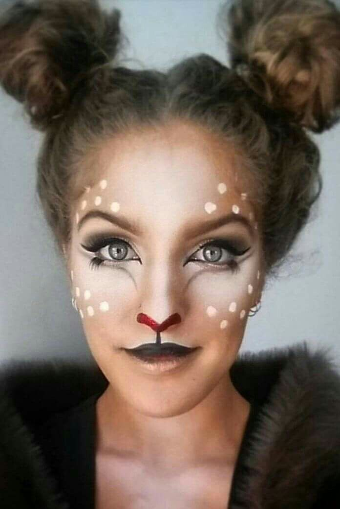Cutest deer makeup and hair ever!