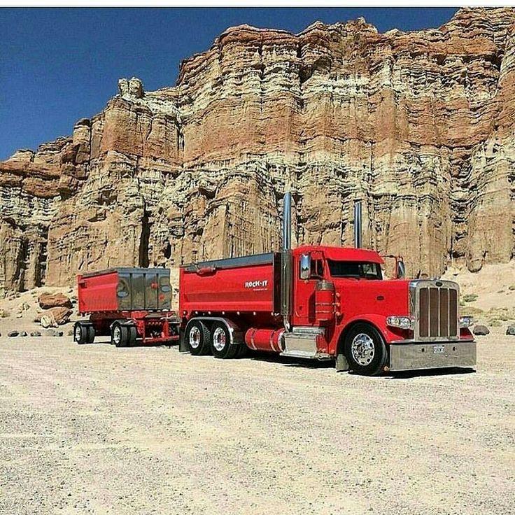 Peterbilt custom 389 transfer dump