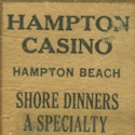 Old Manumark Matchbook Cover – Hampton Casino – Hampton Beach, NH    Be sure to check out all of our Vintage Old Manumark Matchbook Covers at http://matchcoverguy.com/category/old-manumarks-2/