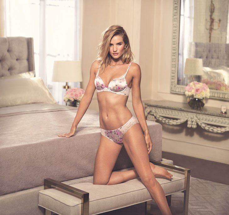 Pin for Later: Rosie Huntington-Whiteley Designed Gorgeous Lingerie, Now She's Showing It Off  Rosie for Autograph Floral Print Silk Set (£39)