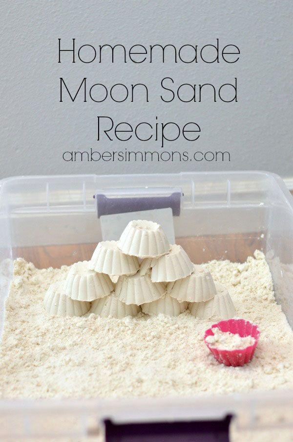 Homemade Moon Sand Recipe | Amber Simmons | DIY moon sand at home with just two ingredients.