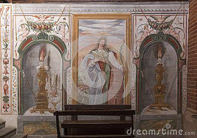 Ancient abbey in Lombardia Milano