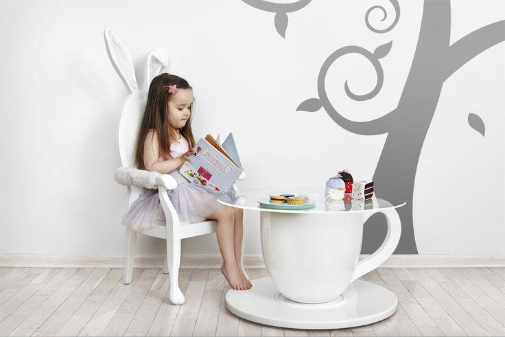 TEA-TIME TABLE and BUNNY CHAIR Jr. from the Alice Collection by BARSTE DESIGN. #furniture #aliceinwonderland #barste #barstedesign #luxurykids #baby #design #happiness #inspiration #luxury #dream #babyshower #kidsroom #babyroom #luxurydesign #decorideas #luxuryinteriors #kidsdesign #dreamroom #kidsbedroom #kidsfurniture #babydesign #babyfurniture #kidsroomideas /www.barste.com