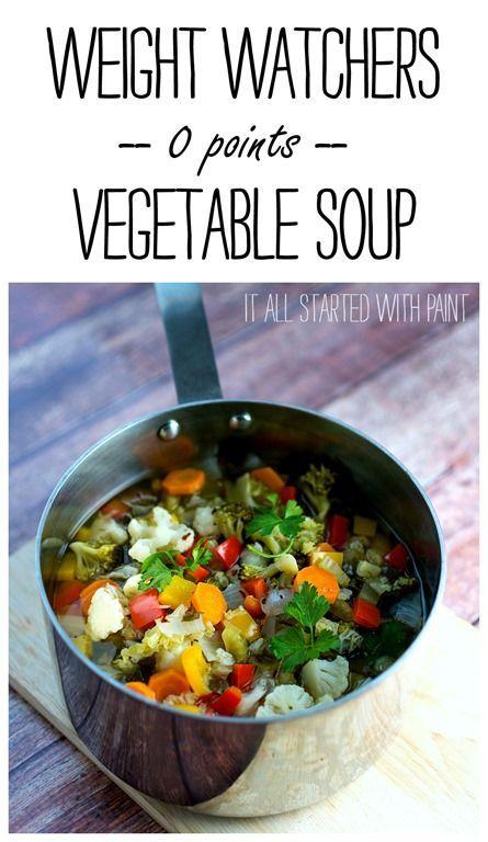 Weight Watchers Recipe: Zero Point Vegetable Soup Recipe