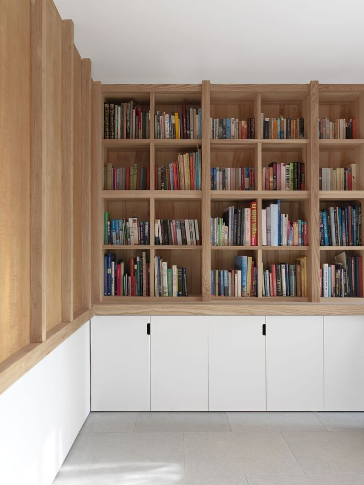 Beautiful bespoke bookshelves made to interior specifications  #cabinet
