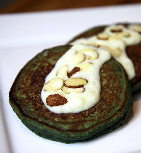 Leprechaun-Approved Blueberry Banana —and Spinach! —Pancakes