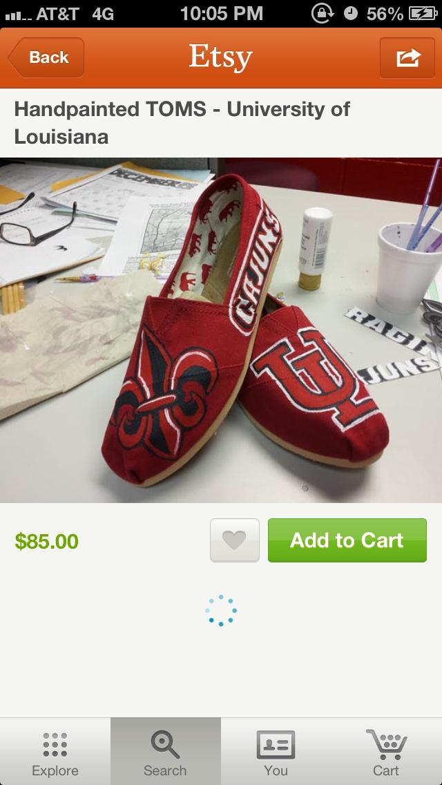 Charming UL Ragin Cajun Toms...get On My Feet :( *musttttttt Have