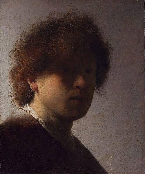 Rembrandt - Autoritratto con capelli scompigliati, 1628
