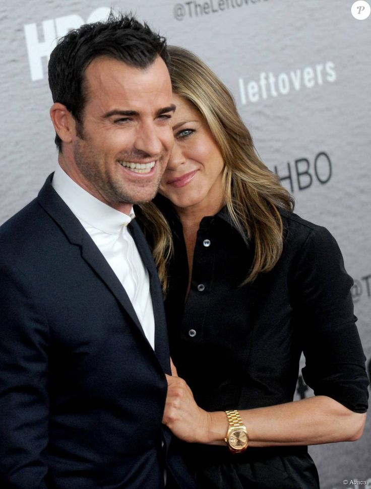 Justin Theroux et Jennifer Aniston à New York le 23 juin 2014.