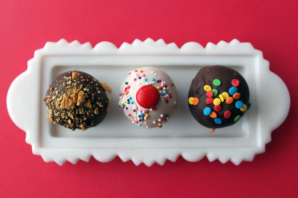 This is the best cake ball recipe.  I like to do chocolate cake with white marshmallow filling and dip it in chocolate.  I have had many people request me to bake these for parties.