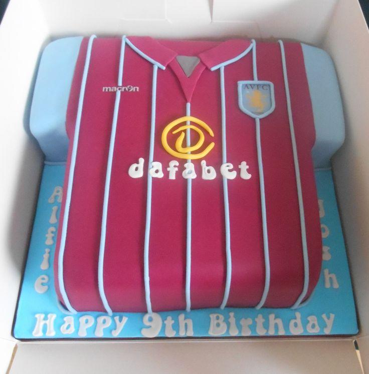 Aston villa shirt cake