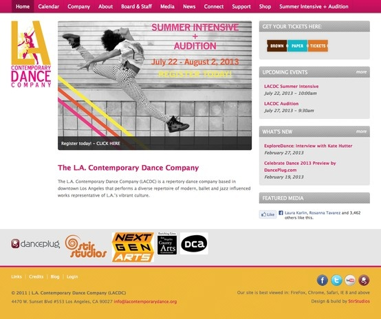 14 best dance studio brochure samples images on pinterest dance website designed and built by stirstudios for lacdc a dance company in los angeles malvernweather Gallery