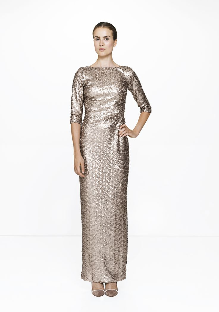 Long sequined dress /9147  ELISE GUG SS15