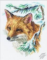 free cross stitch fox pattern - Google-søk