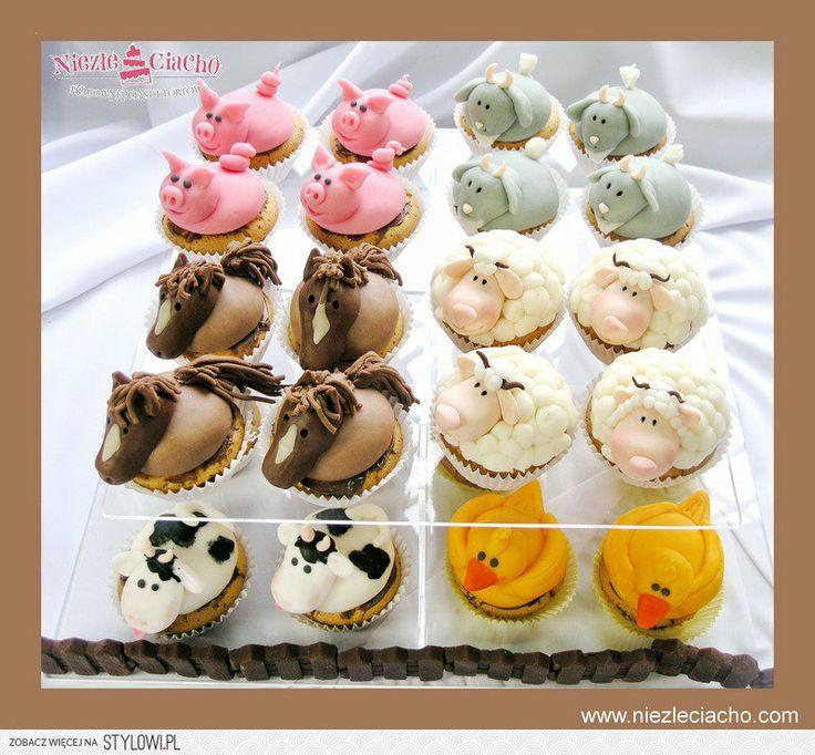 Zwierzątka, kaczuszki, owieczki, świnki, krówki, konie, cup cake, babeczki, muffinki, cap cake ze zwierzętami