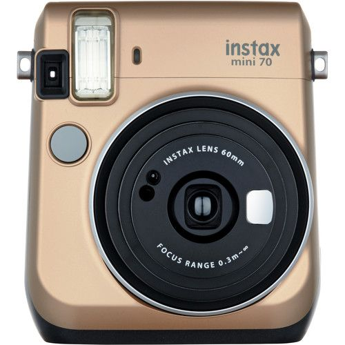 fujifilm instax mini 70 instant film camera gold