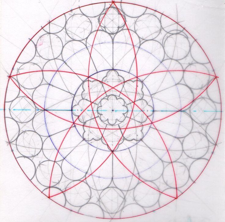 Erlernen Sie die Kunst der Geometrie und des Designs von Rosettenfenstern