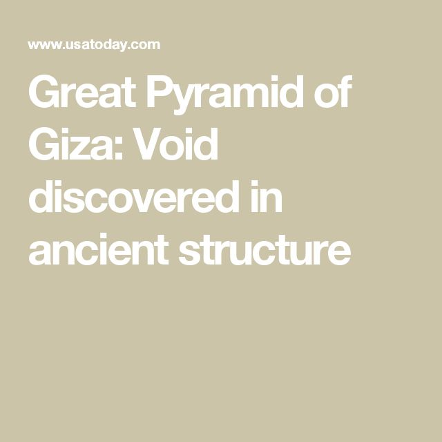 Great Pyramid of Giza: Void discovered in ancient structure