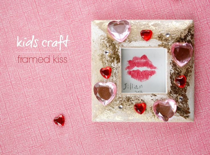 DIY: Easy kid's craft, a framed kiss!