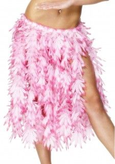 Een Hawaiiaans Hula rokje voor een zomer Caribisch of Hawaiiaans thema feestje! Het rokje heeft een elastieke band en roze verticale bloemetjes stroken. Dit Hawaiiaanse Hula rokje is een productie van Smiffy's.     Set bestaat uit: - Hawaiiaans Hula Rokje