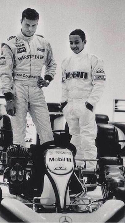 F1 David #Coulthard y un jovencísimo Lewis #Hamilton