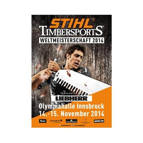 STIHL® TIMBERSPORTS® : Rendez-vous le 14 et 15 novembre 2014 au Palais des Sports Olympique d'Innsbruck en Autriche pour le Championnat du Monde